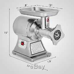 Commercial Grade 1HP Electric\ Meat Grinder 750W Stainless Steel Heavy Duty #22