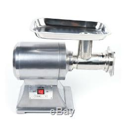 Commercial Grade Meat Grinder Stainless Steel Heavy Duty 1.5HP 1100W 450LB/h