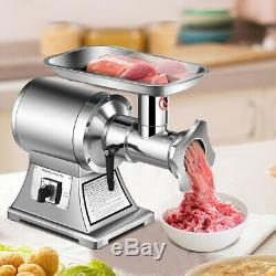 Commercial Grade Meat Grinder Stainless Steel Heavy Duty 1.5HP 1100W 550LB/h