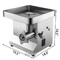 Commercila Electronic Meat Grinder 850W 250kg/h Sausage Maker Stainless Steel