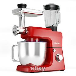 Costway 3 In 1 Upgraded Stand Mixer with 7QT Stainless Steel Bowl Meat Grinder