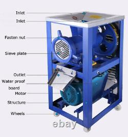 Electric 52 Bone Crusher Meat Stainless Feed Processer 400-500kg/h 220V 3KW US