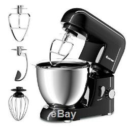 Electric Food Stand Mixer Tilt-Head Stainless Steel Black with Bowl 4.3 QT