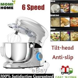 Electric Food Stand Mixer Tilt-Head Stainless Steel with Bowl Large Anti-Slip