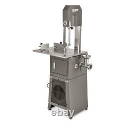 Electric Meat Cutting Band Saw Grinder Adjustable Blade Stainless Steel Table