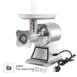 Electric Meat Grinder 1100W Commercial Grade 1HP Stainless Steel Heavy Duty 22