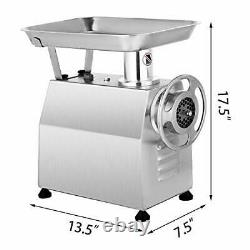 Electric Meat Grinder 850W 550Lbs/H Commercial Sausage Maker Stainless Steel