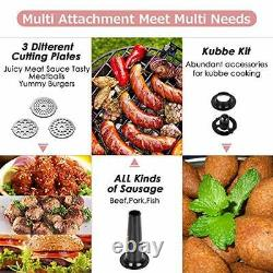 Electric Meat Grinder CHEFFANO Stainless Steel Meat Mincer Sausage Stuffer 20