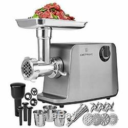 Electric Meat Grinder FDA Certified Stainless Steel Heavy Duty 1800W Max 4 3