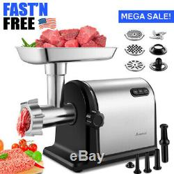 Electric Meat Grinder Heavy Duty Stainless Steel Meat Mincer 2000W Max