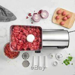 Electric Meat Grinder Mincer Machine Stainless Steel Food Sausage Maker Kitchen