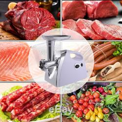 Electric Meat Grinder Sausage Stuffer Maker 1200W Stainless Steel Blade Portable
