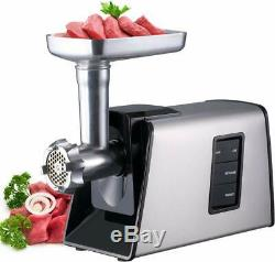 Electric Meat Grinder Sausage Stuffer Maker Stainless Steel Cutting Blade 3Plate