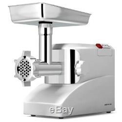 Electric Meat Grinder Sausage Stuffer with 3 Blades 2000 Watt Stainless Steel