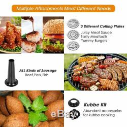 Electric Meat Grinder Stainless Steel 3 in 1 Meat Mincer Sausage Maker Stuffer