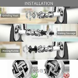Electric Meat Grinder Stainless Steel Meat Mincer & Sausage Stuffer with 3 Gr