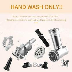 Electric Meat Grinder, Stainless Steel Meat Slicer Sausage Stuffer 2000W Max