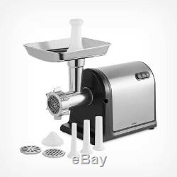 Electric Meat Grinder with Attachments 600W Stainless Steel Mincer 3 Cutter Plates
