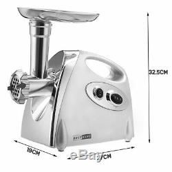Electric Meat Grinders Stainless Steel Powerful Electric Grinder Sausage Burger