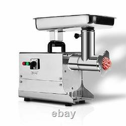 Electric Stainless Steel Commercial Grade Meat Grinder & Sausage Stuffer #22