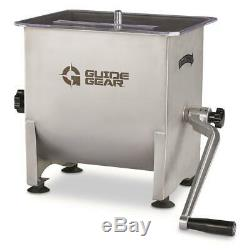 GUIDE GEAR Stainless Steel Meat Mixer 4.2 Gallon Cap Sausage Jerky Food Maker