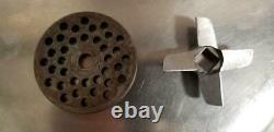 Genuine Hobart meat grinder attachment Hub #12 with Stainless Steel Pan