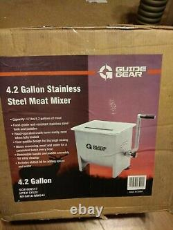 Guide Gear Stainless Steel Meat Mixer- 4.2-Gallon, 17-Lb. Capacity