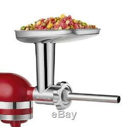 Gvode Stainless Steel Food Grinder Attachment for KitchenAid, Dishwasher Save US