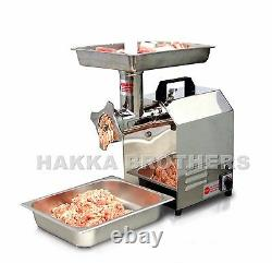 Hakka 350lbs/h Commercial Electric Meat Grinder 550W Stainless Steel Meat Mincer