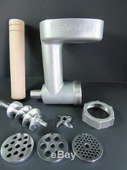 Heavy Duty Cast Stainless Steel Meat Grinder Food Chopper for Kitchenaid FGA