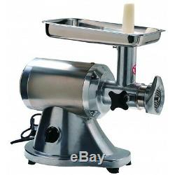 Heavy Duty Commercial Stainless Steel 1HP Electric Meat Grinder No #12 ETL/NSF