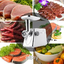 Heavy Duty Electric Meat Grinder Commercial Industrial Stainless Steel 1300W