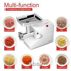 Heavy Duty Electric Meat Grinder Commercial with 3 Blades Stainless Steel 2000W