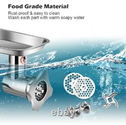 Heavy Duty Electric Meat Grinder Pusher Commercial Industrial Stainless Steel