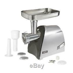 Heavy Duty Electric Meat Grinder Sausage Stuffer Stainless Steel 3/4 HP Motor