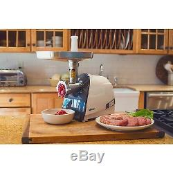 Heavy-Duty Electric Meat Grinder & Sausage Stuffer Stainless Steel EZ Clean