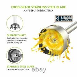 Hot 4 in-1 Stainless Steel 1100W Immersion Hand Stick Blender Mixer Meat Grinder