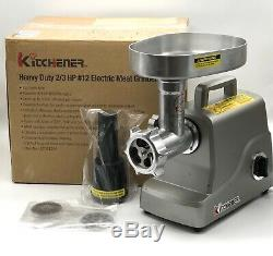 KITCHENER Heavy Duty Electric Meat Grinder 2/3 HP 500 W 3 speeds Stainless Steel