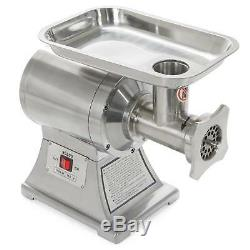 Kitchen Meat Grinder 1HP Electric Mincer Stainless Steel Industrial Portable
