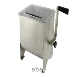 Kitchen Meat Mixer Stainless Steel Hopper Removable Mixing Blades 20 Lb Capacity