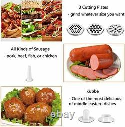 Kitchen Red 3-in-1 Stainless Electric Meat Mincer Grinder Sausage Maker 2800 W