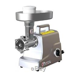 Kitchener Heavy Duty Electric Meat Grinder 2/3 HP (500W), 3-speed with Stainless