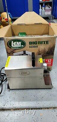 LEM 17801 Big Bite 12.75HP Stainless Steel Electric Meat Grinder Silver
