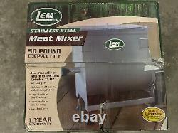 LEM 50Ib Meat Mixer Stainless Steel
