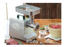 LEM Meat Grinder Electric No 8 Kitchen Grinding Stainless Steel Mighty Bite Grey