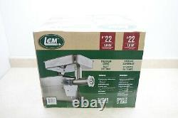 LEM Products 1 hp Grinder #22 Stainless Steel Brand New Model #1781