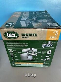 LEM Products 1777 Big Bite #5.35HP Stainless Steel Electric Meat Grinder