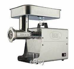 LEM Products 17811 Big Bite #22 1HP Stainless Steel Electric MeatGrinder
