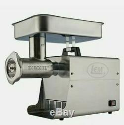 LEM Products 17821 Big Bite #32 1.5HP Stainless Steel Electric Meat Grinder miss