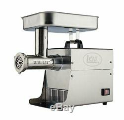 LEM Products Stainless Steel Big Bite Electric Meat Grinder #8 (. 50 HP)